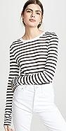 alexanderwang.t 经典条纹竹节纹平纹针织长袖 T 恤