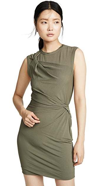alexanderwang.t Twisted Crepe Jersey Mini Dress