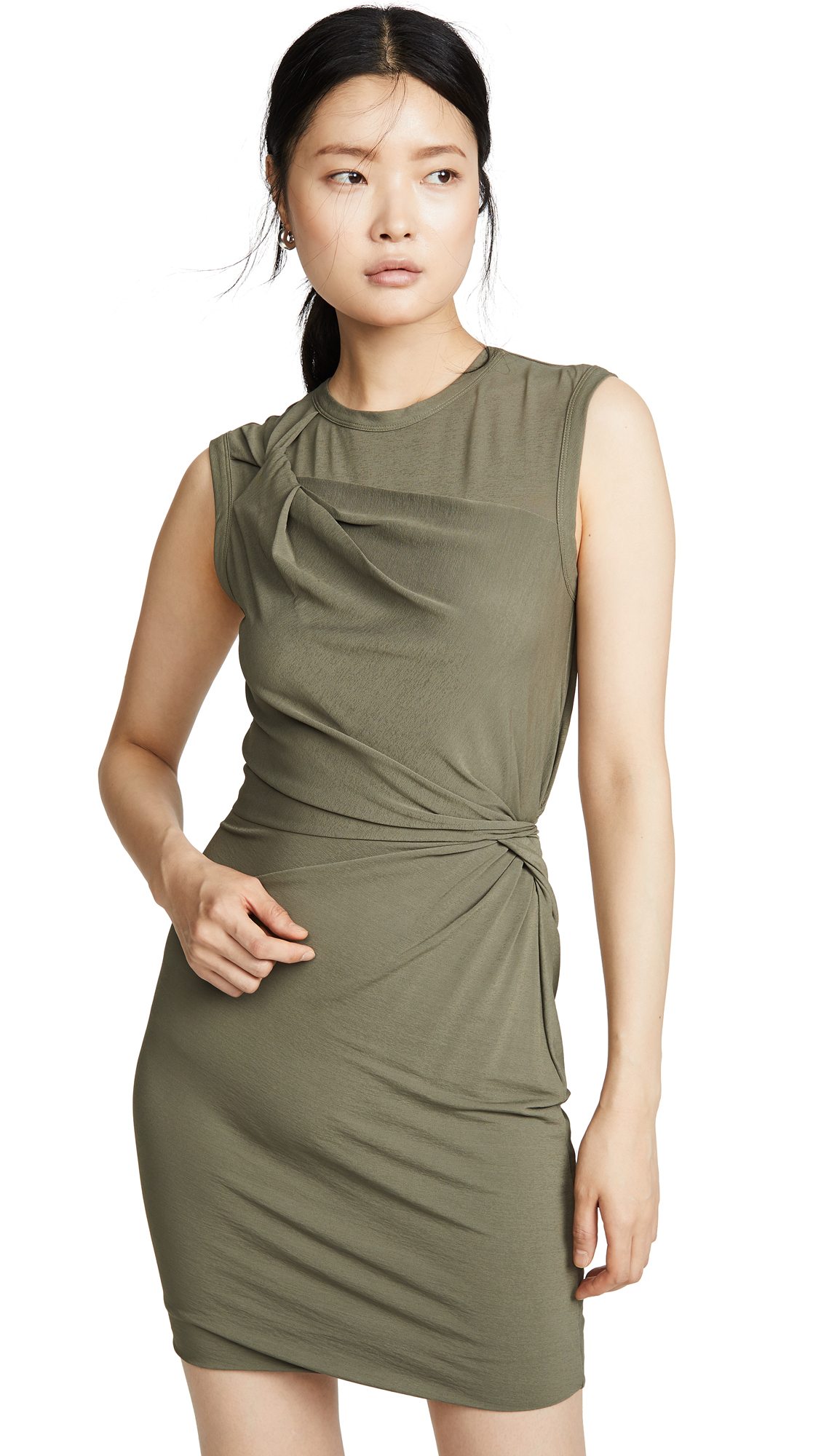 Buy alexanderwang.t online - photo of alexanderwang.t Twisted Crepe Jersey Mini Dress