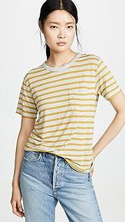alexanderwang.t Тонкая футболка с короткими рукавами в полоску