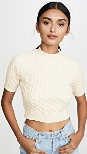 alexanderwang.t Shrunken Cable Raglan Sweater