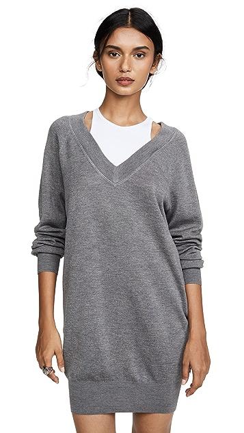 alexanderwang.t Bi-Layer Sweater Dress