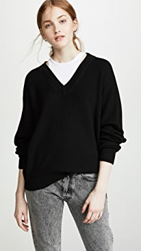 2a3521d5f02 alexanderwang.t. Bi-Layer V Neck Sweater.  350.00  350.00  350.00. Heather  Grey
