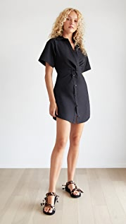 alexanderwang.t Crisp Poplin Mini Shirt Dress