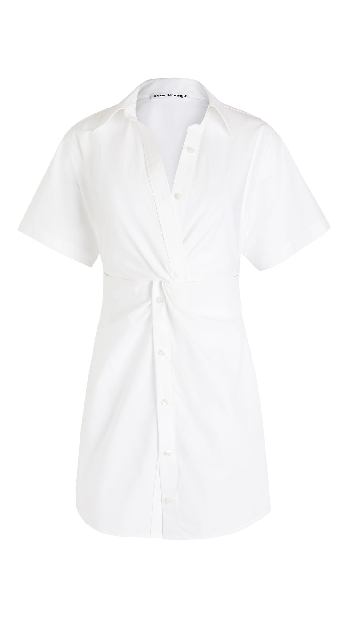 Les Hommes CRISP POPLIN MINI SHIRT DRESS