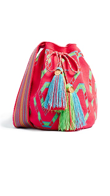 The Way U Large Solid & Striped Mochilas Bucket Bag