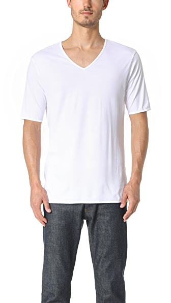 The White Briefs Oak V Neck Tee