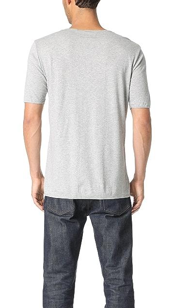 The White Briefs Oat Short Sleeve Henley