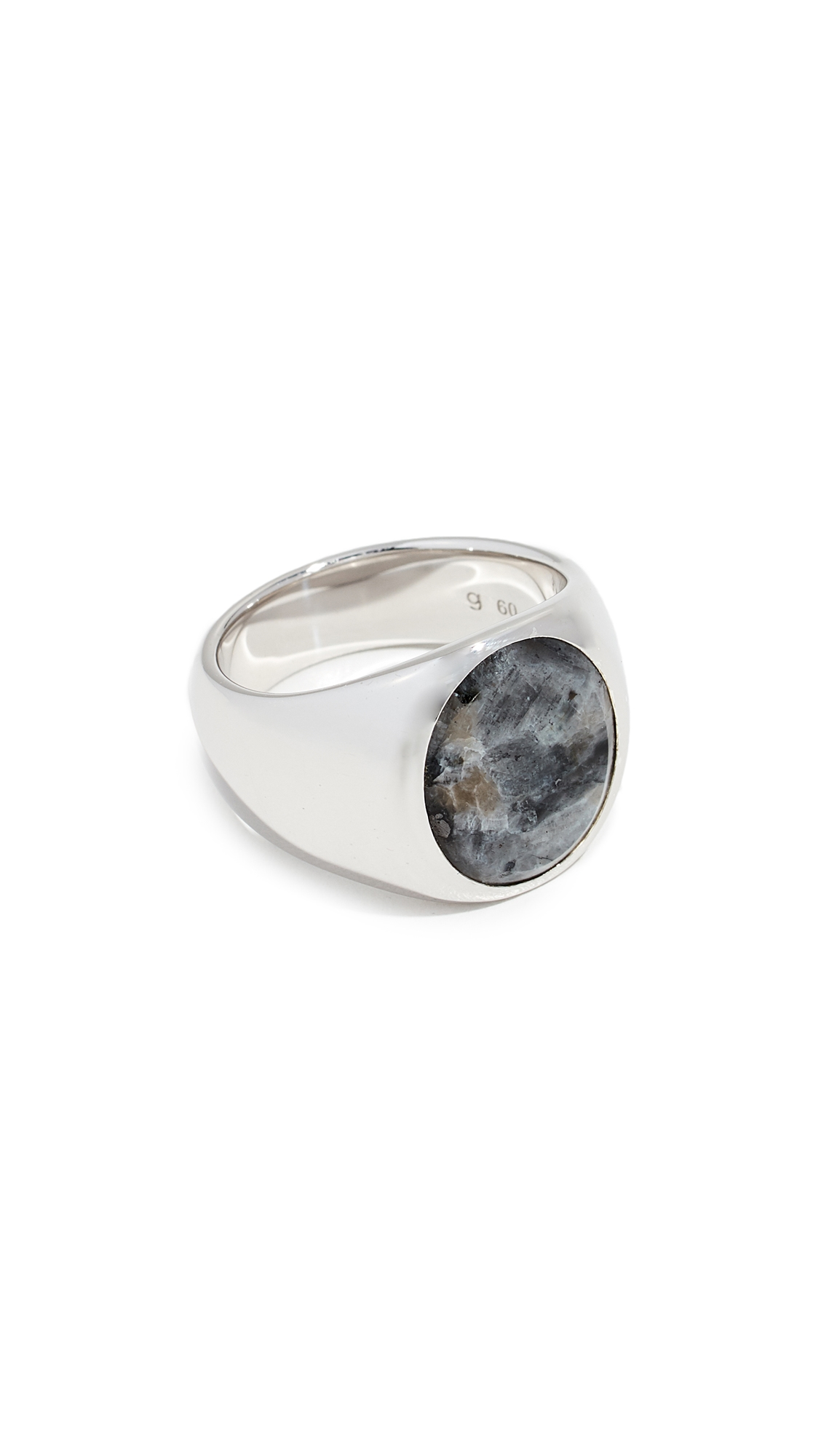 Oval Larvikite Ring in Sterling Silver from EAST DANE