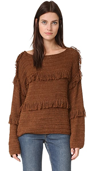 Ulla Johnson Lordes Pullover - Saddle