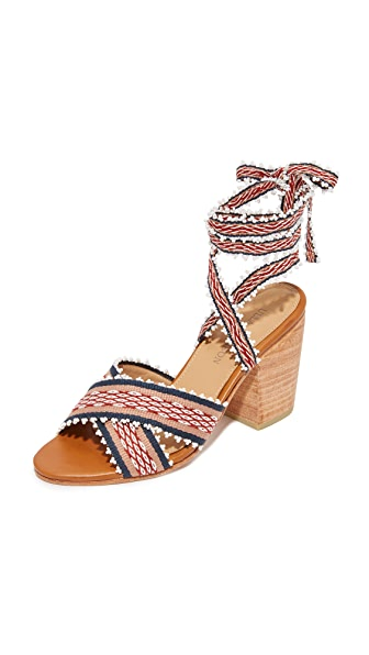 Ulla Johnson Rowena Handloom Block Heels
