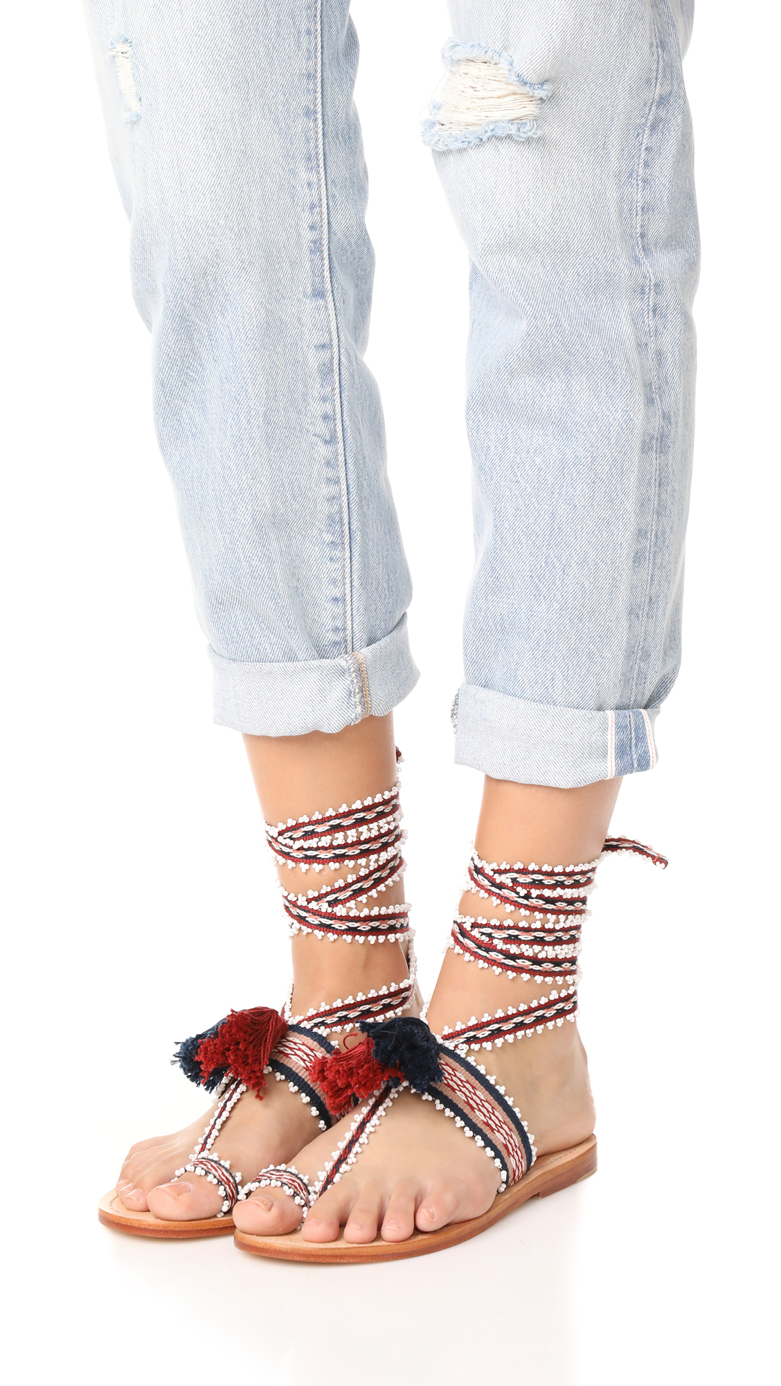 Ulla Johnson Zandra Embroidered Sandals free shipping hot sale outlet 2014 new professional sale online for sale cheap price buy cheap get to buy LuKhYSn7