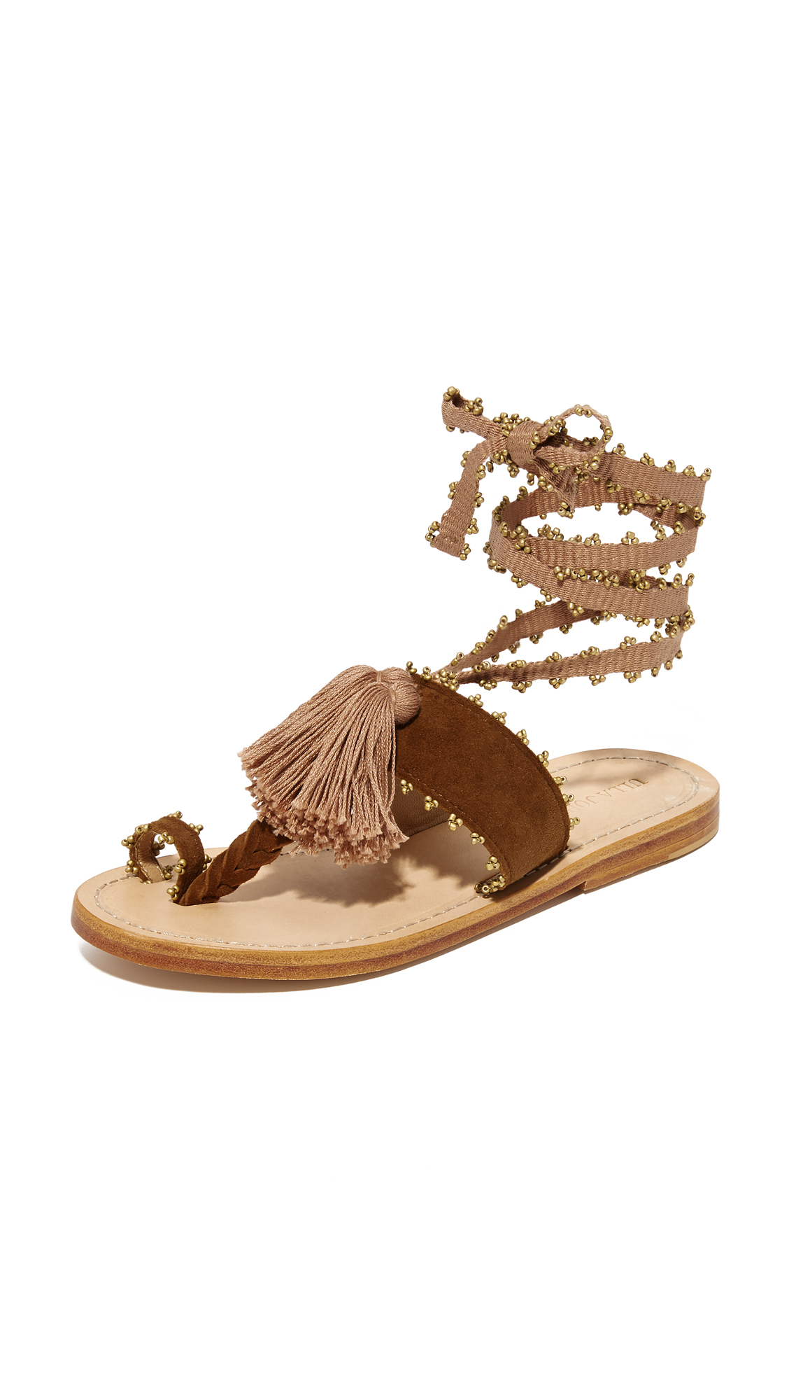Ulla Johnson Zandra Sandals - Saddle