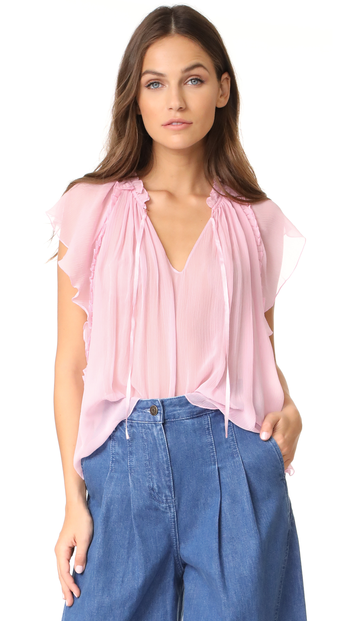 Ulla Johnson Sigrid Top - Rose