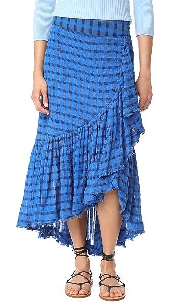 Ulla Johnson Gretchen Skirt - Cobalt