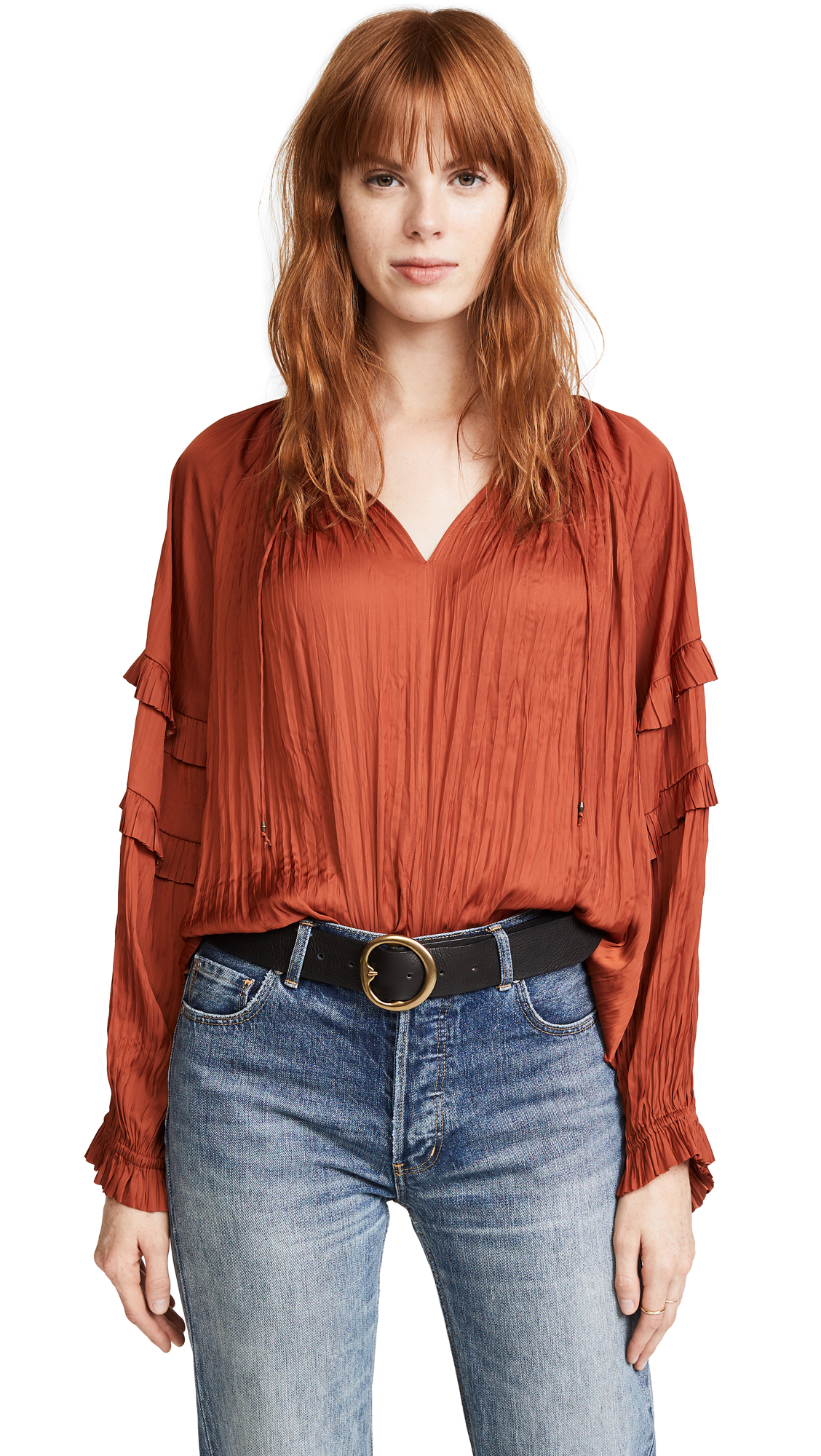 Ulla Johnson Carolina Blouse - Poppy