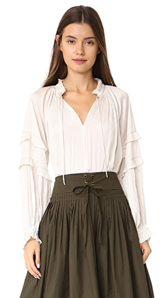 Ulla Johnson Carolina Blouse - Blanc