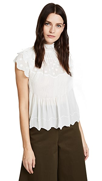Ulla Johnson Darla Top In Blanc