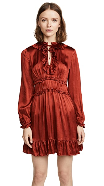 Ulla Johnson Callista Dress In Crimson
