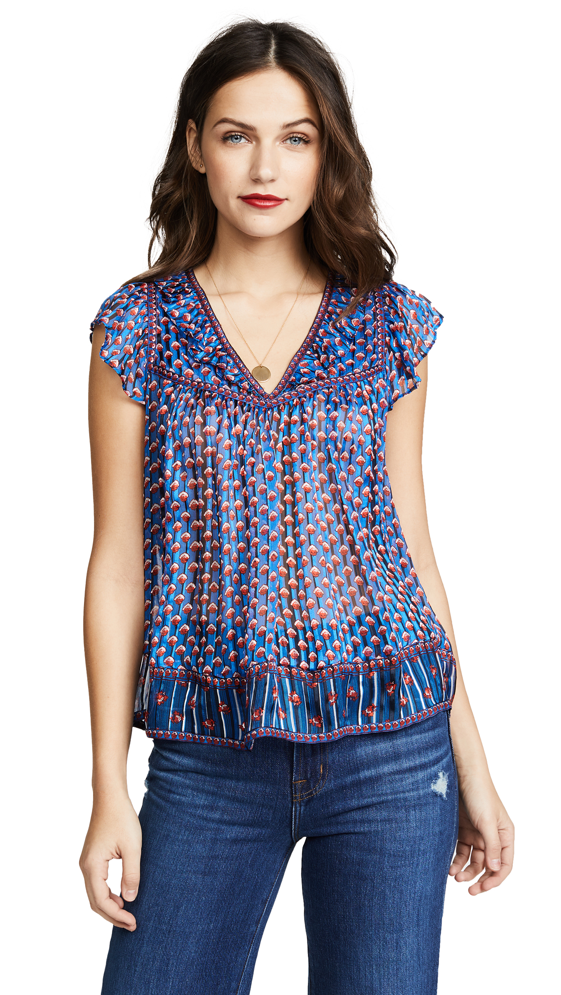 Ulla Johnson Avery Top - Cerulean