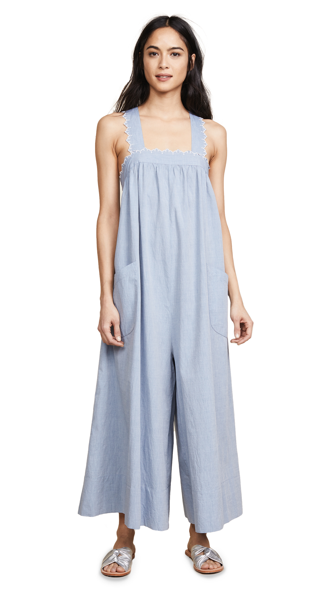 Ulla Johnson Rapaella Jumpsuit In Chambray