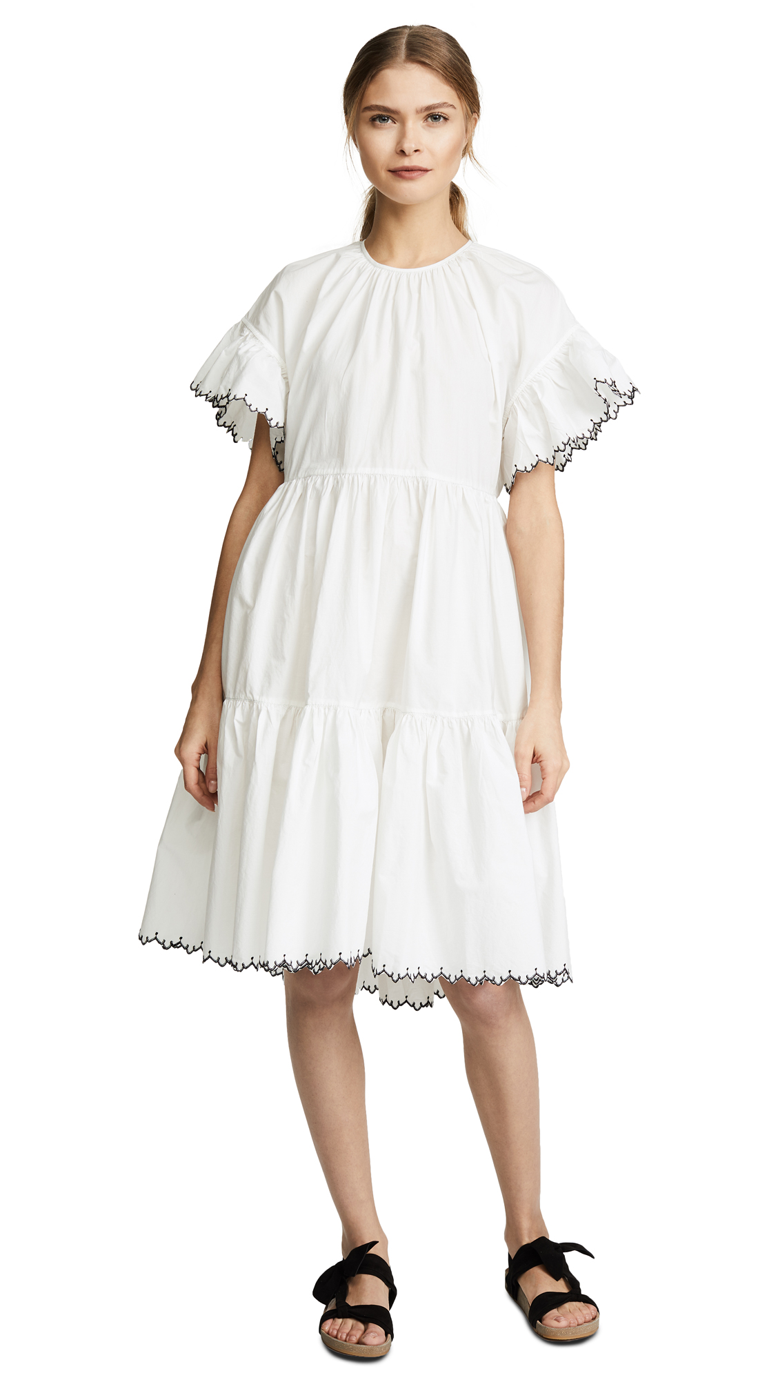 Womens Madison Embroidered Cotton Voile Dress Ulla Johnson IksKbEWSD1