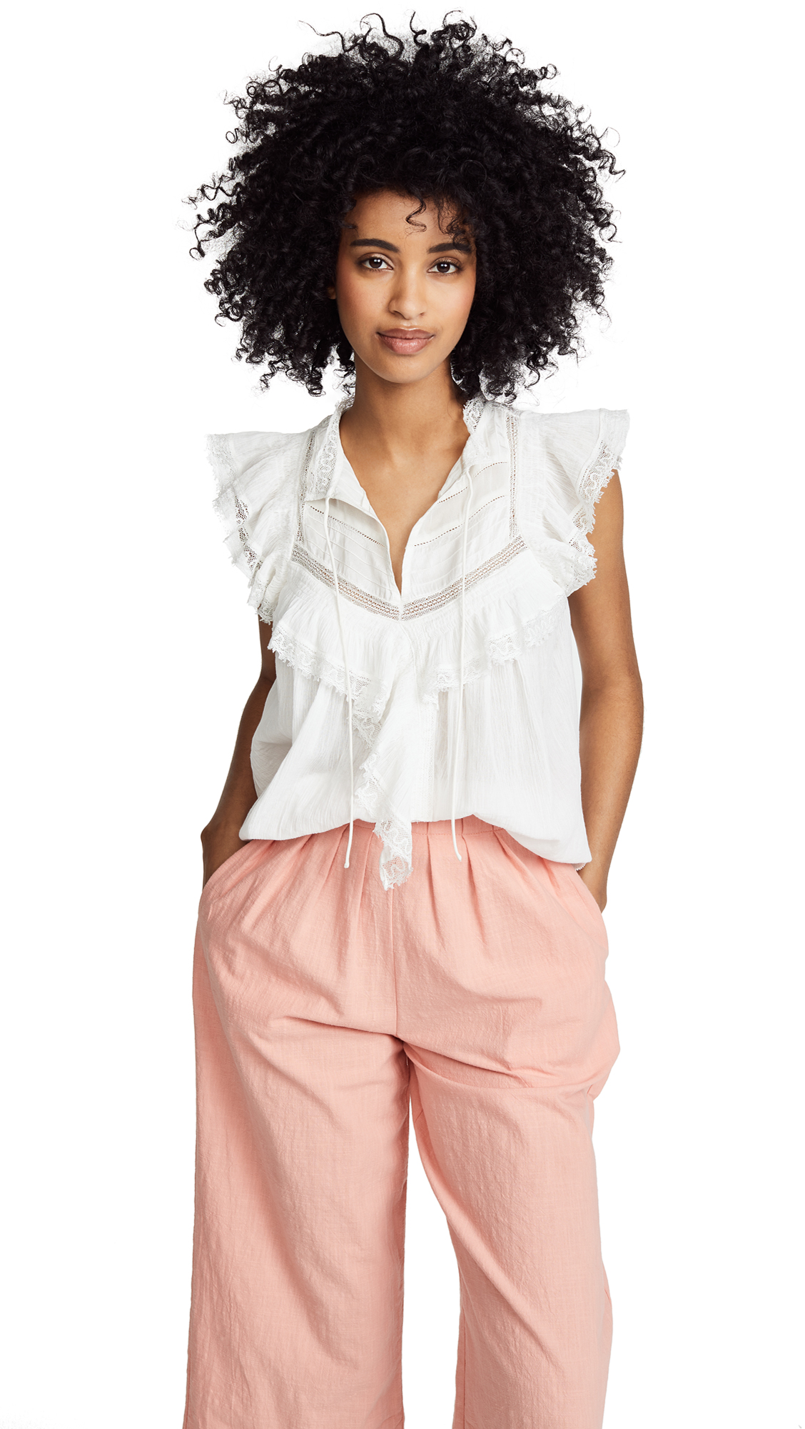 Ulla Johnson Fannie Top In Blanc
