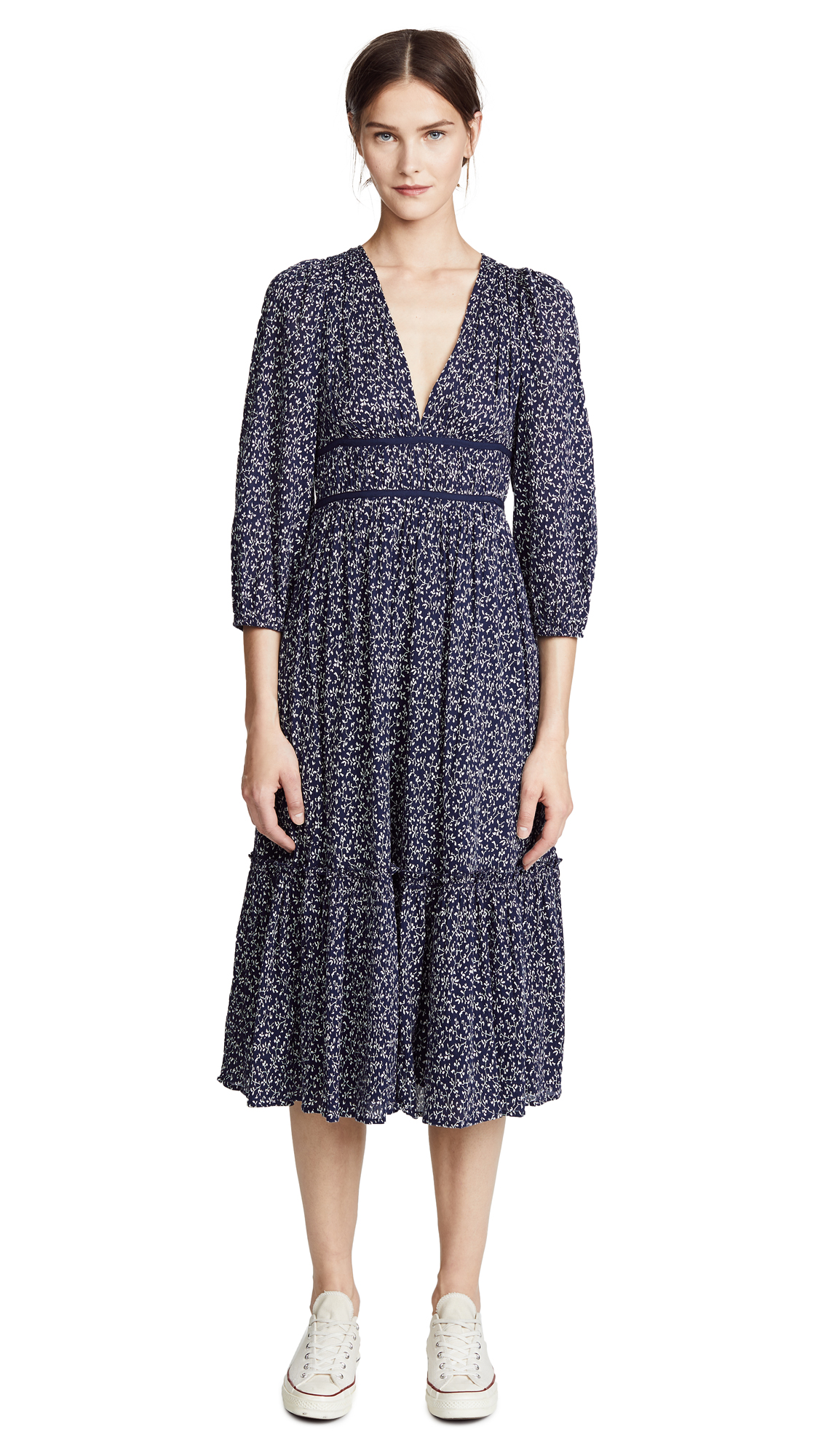 Ulla Johnson Malena Dress In Midnight