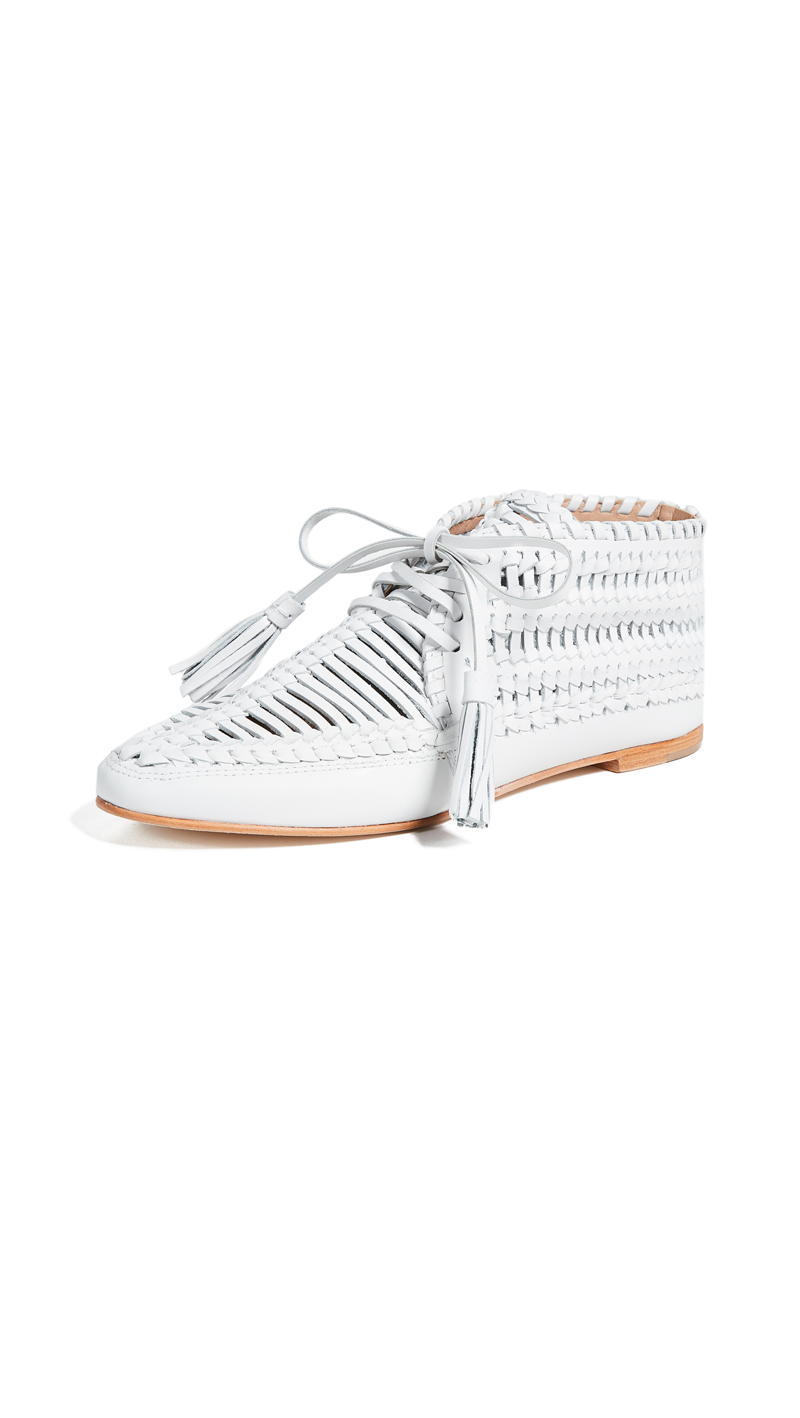 Ulla Johnson Nikola Moccasins - Chalk