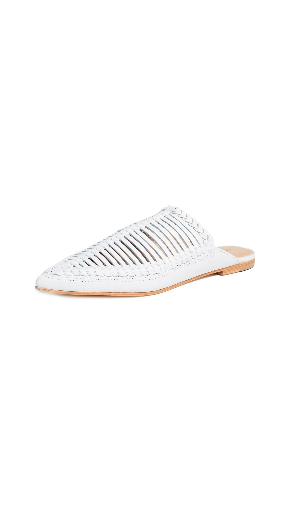Ulla Johnson Jana Babouche Mules - Chalk