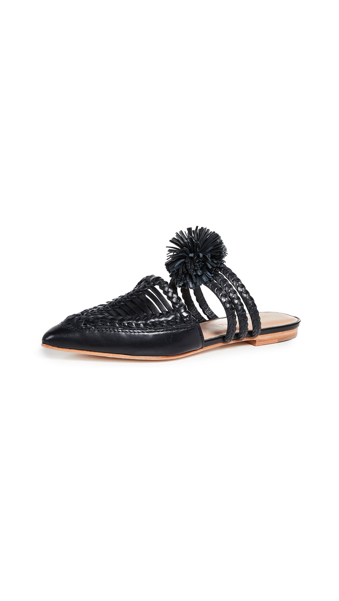 Ulla Johnson Marah Flat Mules - Black