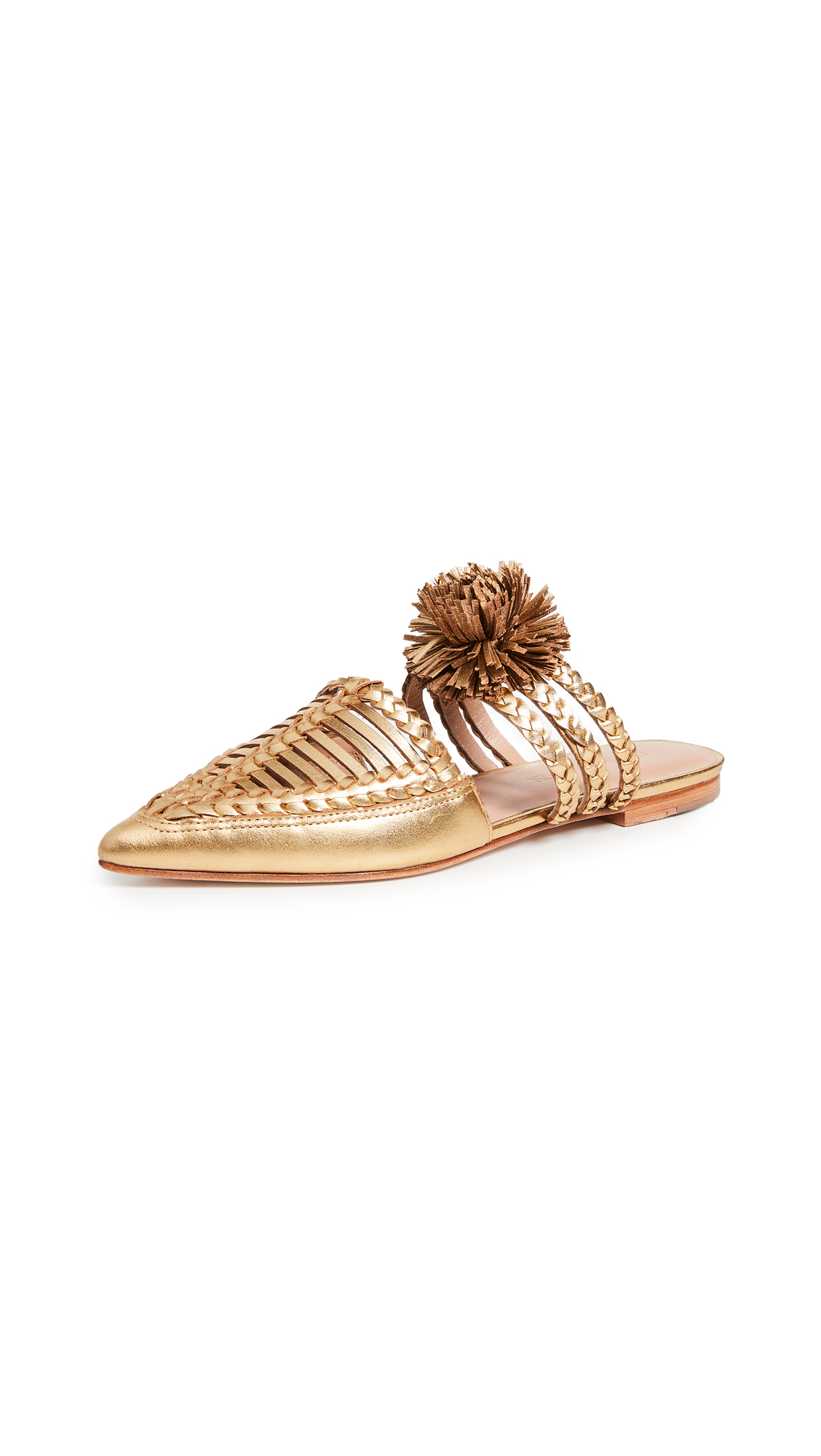 Ulla Johnson Marah Flat Mules - Gold