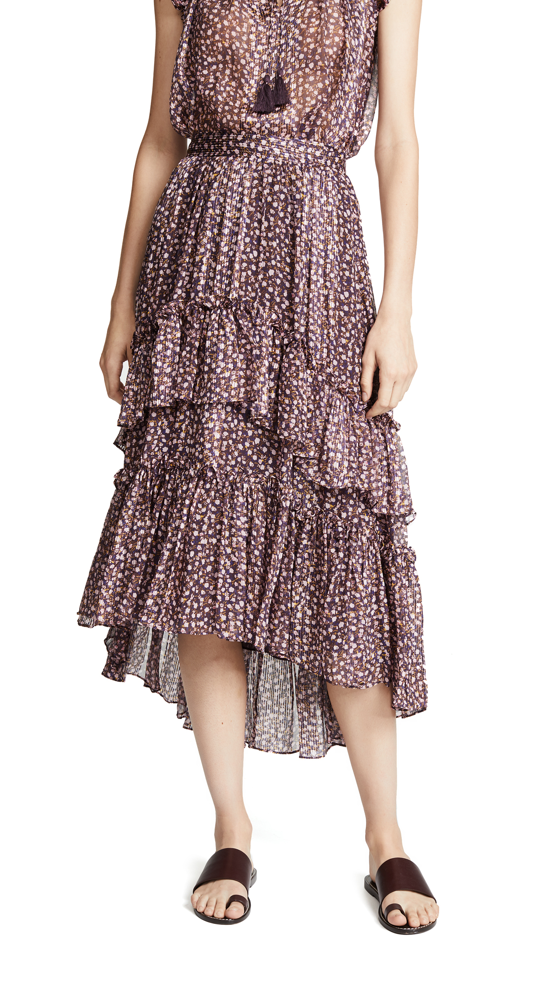 Ulla Johnson Maria Skirt In Cocoa