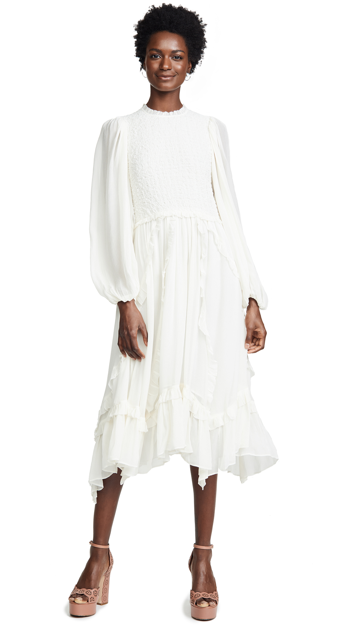 Ulla Johnson Arielle Dress - Pearl