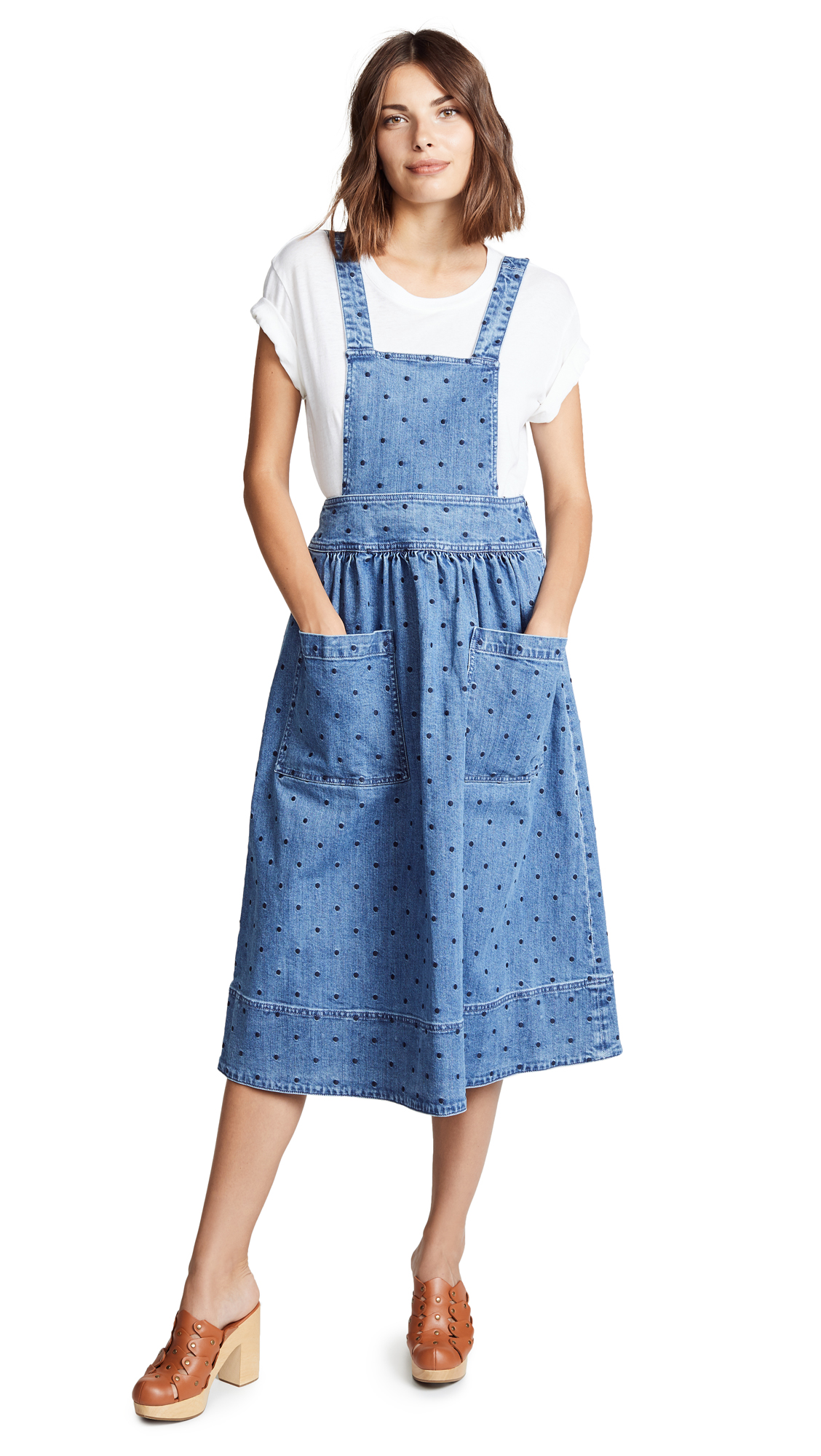 Ulla Johnson Johanna Pinafore Dress In Indigo