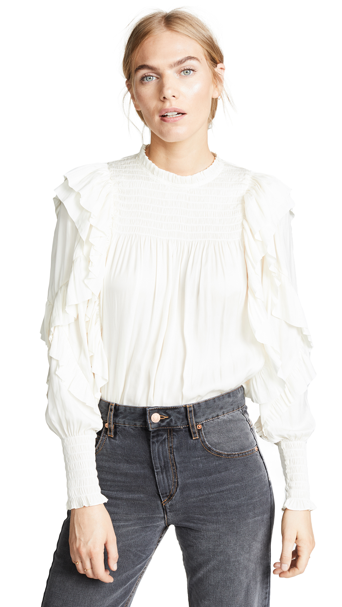 Ulla Johnson Jessamine Blouse In Ivory