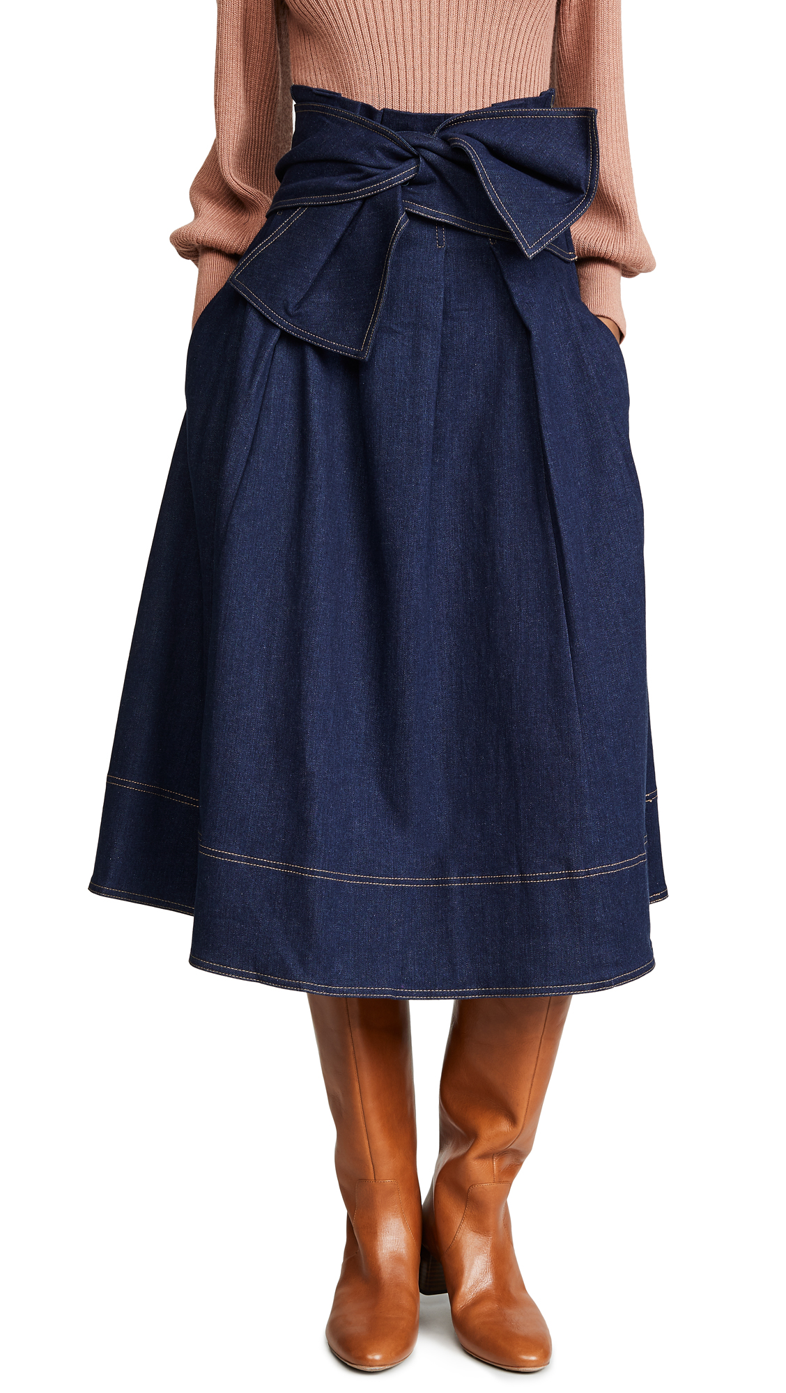 Ulla Johnson Virgil Skirt In Indigo