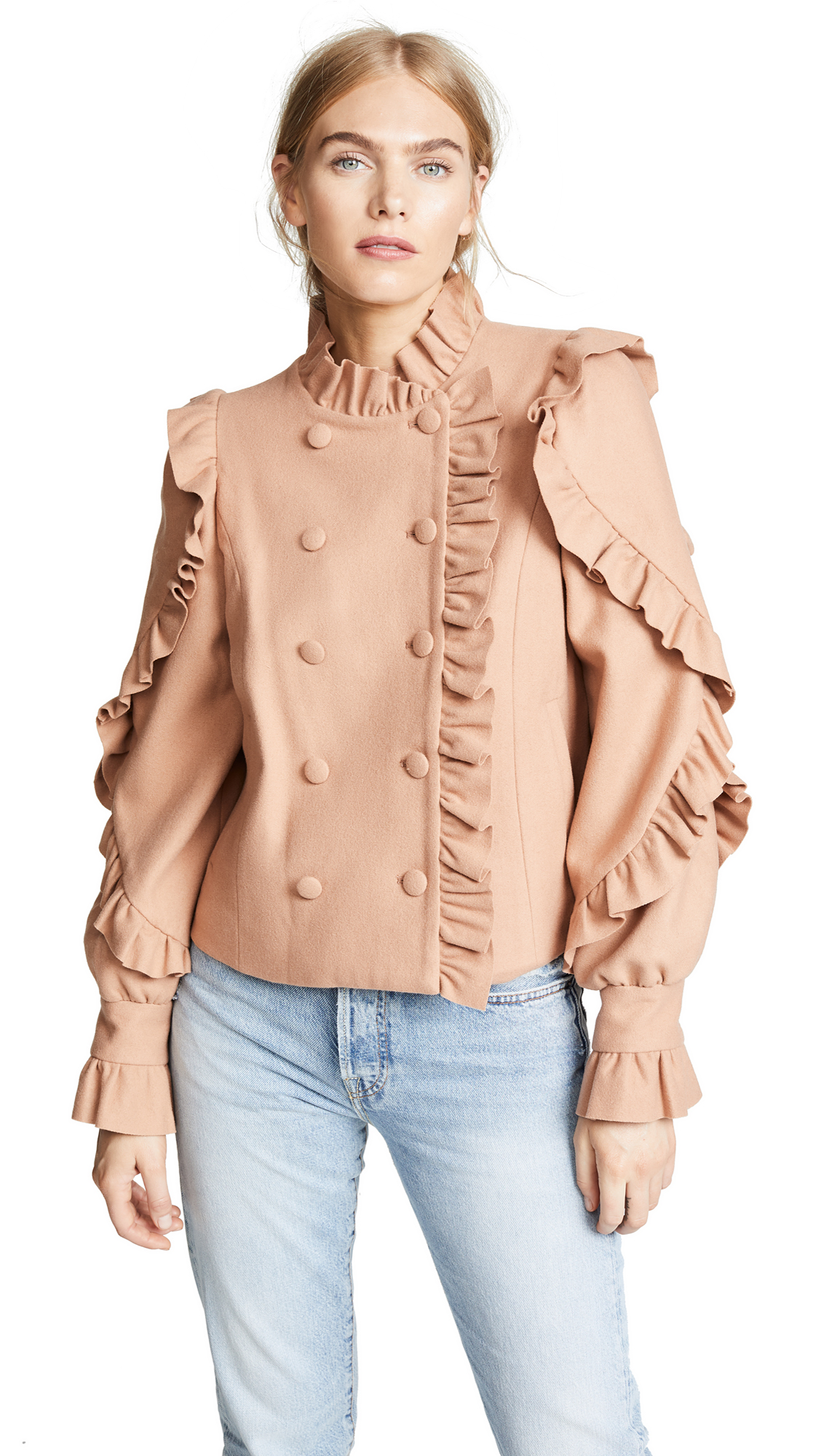 Ulla Johnson Lucinde Jacket In Clay