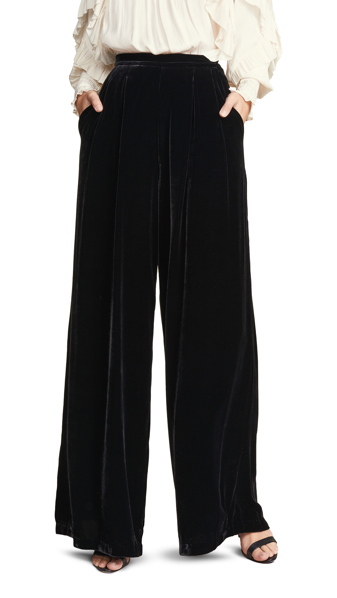 Ulla Johnson Rhett Trouser In Black
