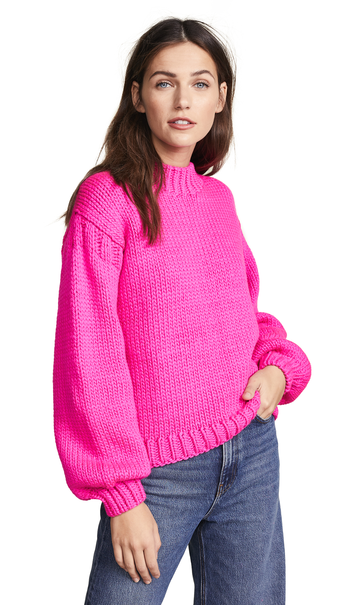Ulla Johnson Rhea Pullover Sweater In Fuchsia