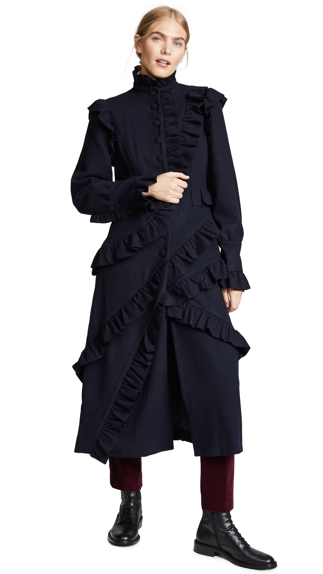Ulla Johnson Bertille Coat In Navy