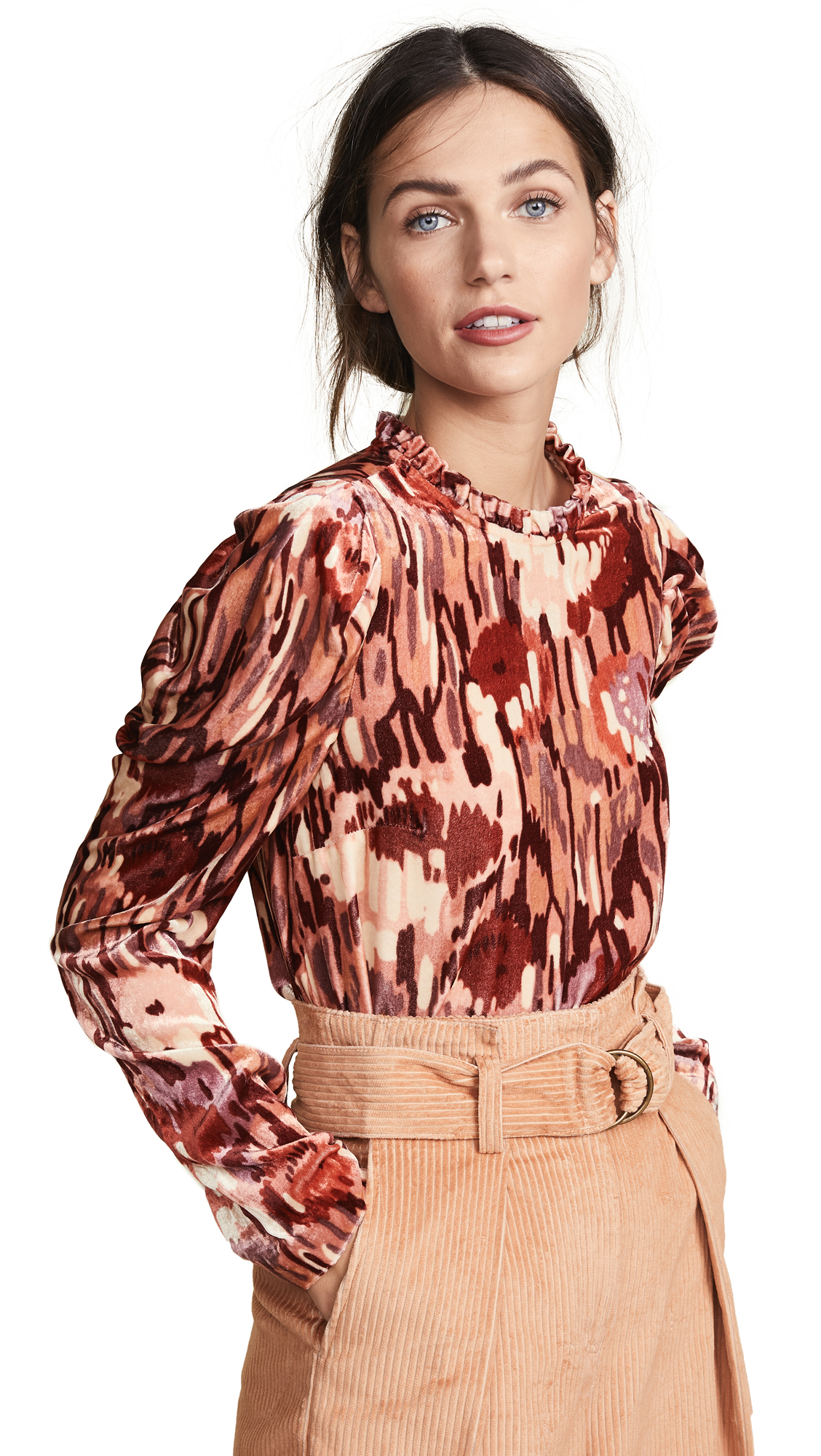 Ulla Johnson Giles Blouse In Rose