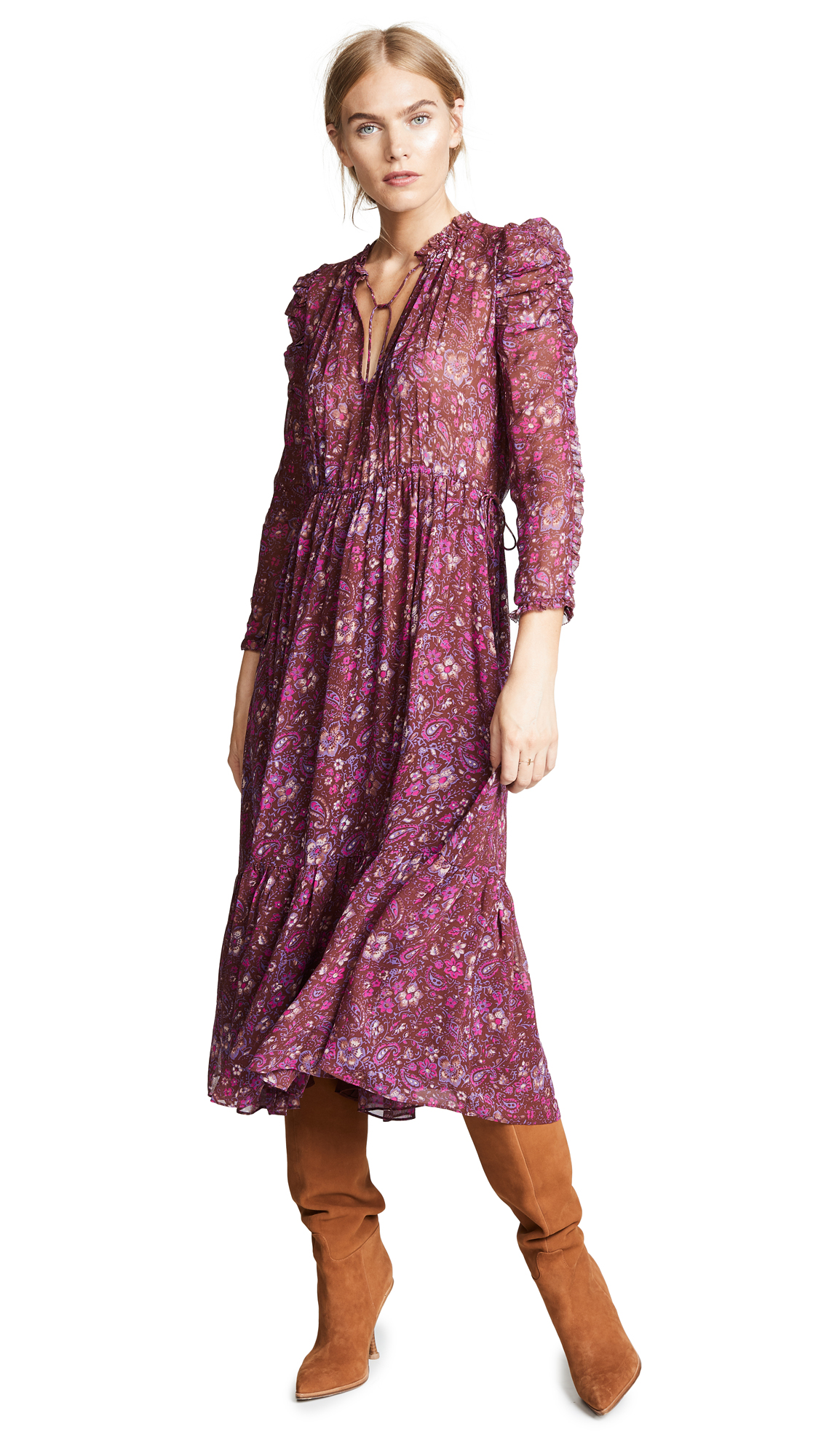 Ulla Johnson Izar Dress In Sumac