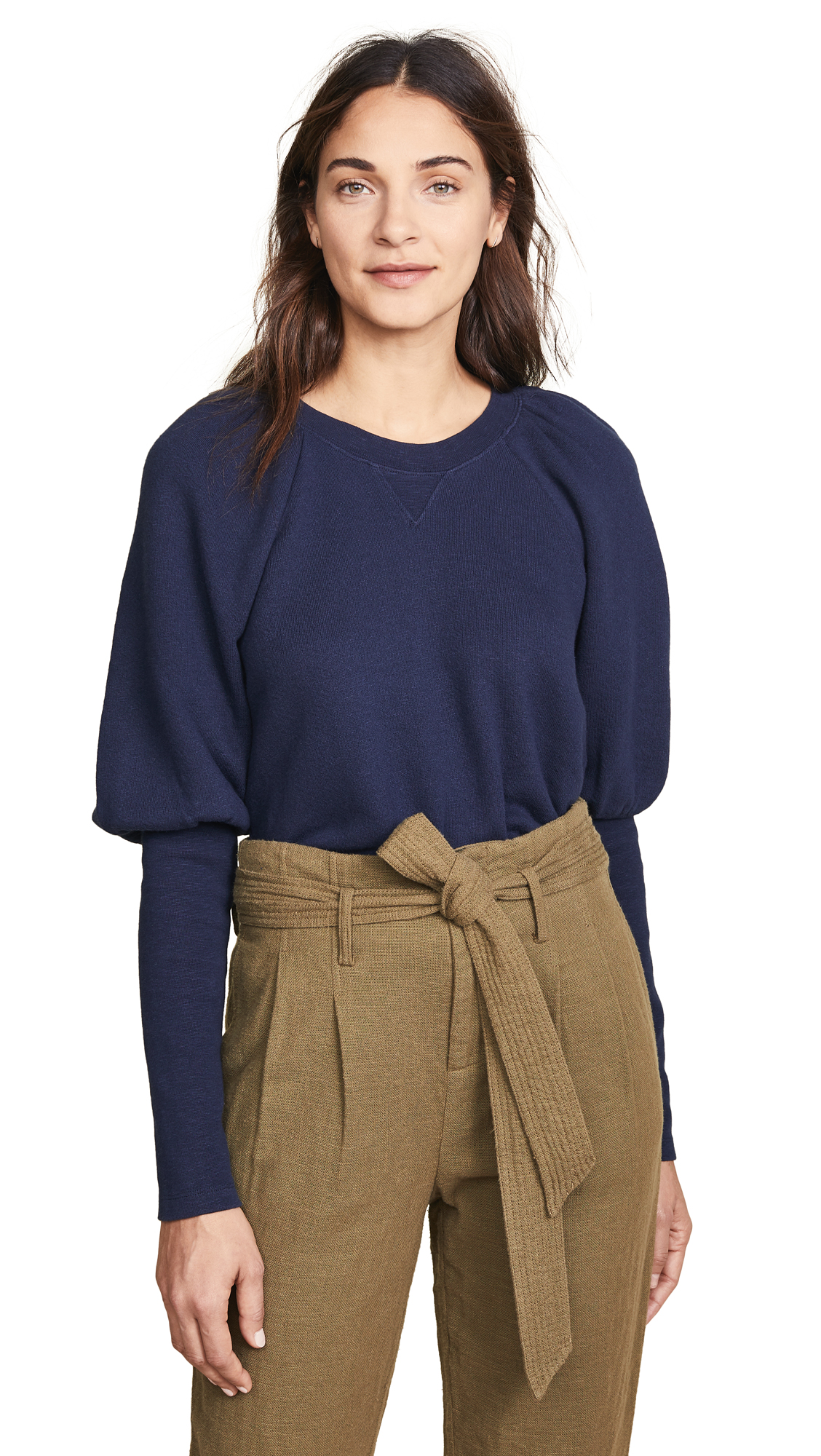 Ulla Johnson Ossie Pullover In Navy