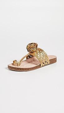 aa22a62874d8c Gold Sandals