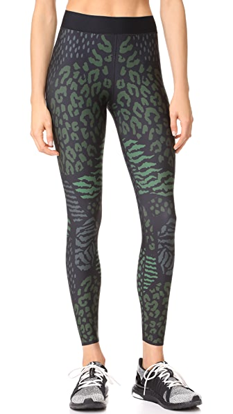 Ultracor Ultra Lux Animalia Print Leggings In Army Green