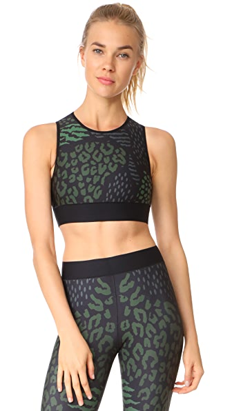 Ultracor Level Animalia Crop Top In Army Green