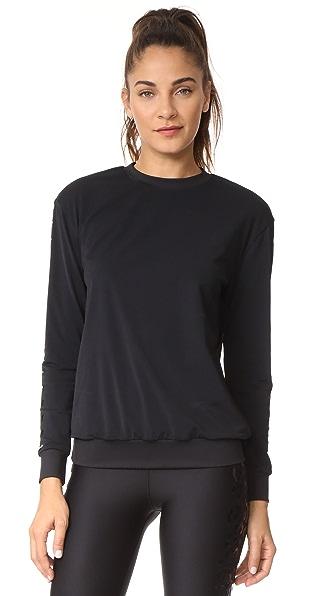 Ultracor Surface Matte Flash Knockout Sweatshirt In Nero/Patent Nero