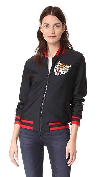 Ultracor Collegiate Jacket In Nero/Rouge