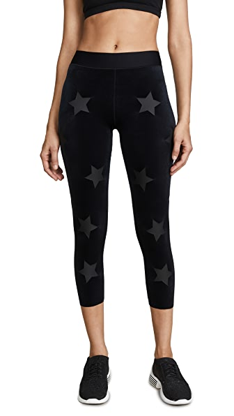 Ultracor Sprinter Velvet Knockout Leggings In Nero Matte